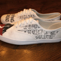 Hand Painted Sleeping With Sirens Shoes