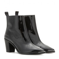 acne studios - loma patent leather ankle boots