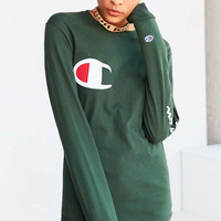 Champion + UO Logo Long-Sleeve Tee - Urban Outfitters