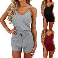Women's Fashion Sexy Strappy Sleeveless Rompers S-XXL