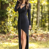 This Love Came Back To Me Maxi Dress-Black