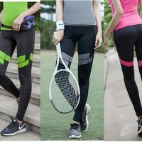ADIBAO Womens Knitted polyester trousers  fitness clothes yago pants  legging  long exercise  leggings