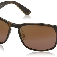 Ray-Ban RB4264 Chromance Lens Square Sunglasses, Tortoise Frame/Brown Mirror Lens (894/6B)