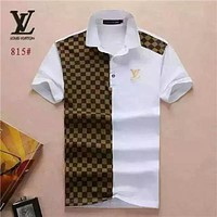 New brand designer Polo men's casual fashion T-shirt embroidered Medusa cotton T- shirt high street collar short sleeve luxury T-shirt 13-LV