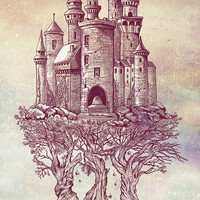 Castle in the Trees Art Print by Rachel Caldwell   Society6