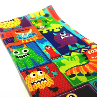 Baby Monsters - Monsters Burp Rag - Colorful Burp Cloth - Baby Rags - Baby Shower Gift - Baby & Childcare - Infant Burpies - New Baby Gift