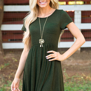 Shop Priceless Reese Dress - Olive