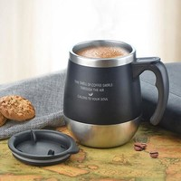 Stainless Steel Big Belly Coffee Mug Thermos with Lid