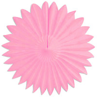 Pink Tissue Flower Fan 18""