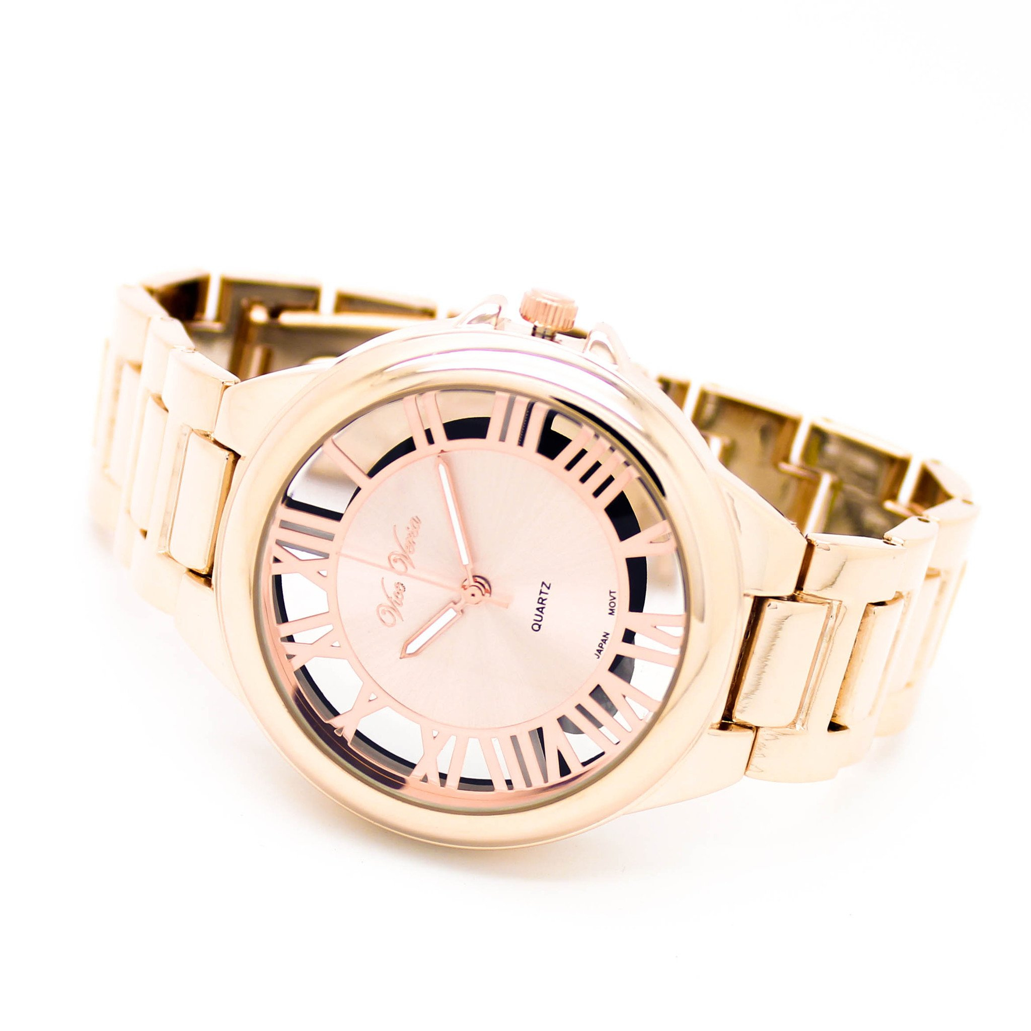 Image of Roman numeral metal watch (3 colors)