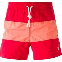 Maison Kitsuné Contrasting Stripe Swim Shorts - The Webster - Farfetch.com