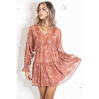 The Rust Was History Snake Print Dress