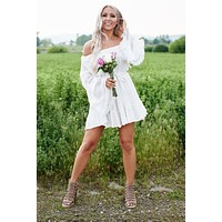 Way Of Love Off The Shoulder Dress (Ivory)
