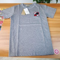 DCCK counter the same genuine BURBERRY 19 spring summer pattern equestrian knight pattern men's gray cotton T-shirt