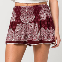PATRONS OF PEACE Bandana Print Smocked Womens Shorts | Shorts