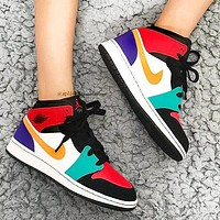 Wearwinds Nike Air Jordan 1 AJ 11 high-top Sneakers basketball shoes Colorful