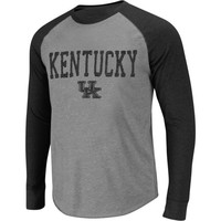 Kentucky Wildcats Badland Long Sleeve Tri-Blend T-Shirt – Ash/Black