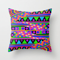 NEON Throw Pillow by Bianca Green | Society6