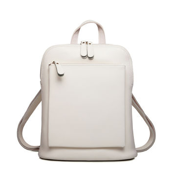 Zency Brand Luxury Fashion Oil Wax Cowhide Women Girl Female Genuine Leather Backpack Real Leather Woman Tote Bag