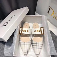 Dior Pointed flat-soled slippers-1