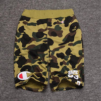 Men's Fashion Camouflage Alphabet Casual Shorts [10272574663]