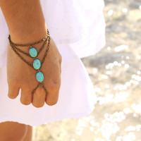 Slave Bracelet Hipster Bronze Chain Bohemian by FunnyPeopleCo