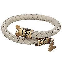 Mickey Mouse Leather Wrap Bracelet by Alex and Ani