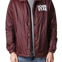 Fourstar Sherpa Coaches Jacket - Mens Jacket - Red