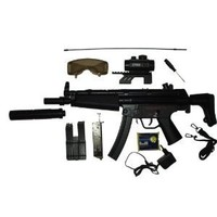 BBTac BT-022 Airsoft Gun Electric Rifle Full Size Automatic, large magazine, ready to play package