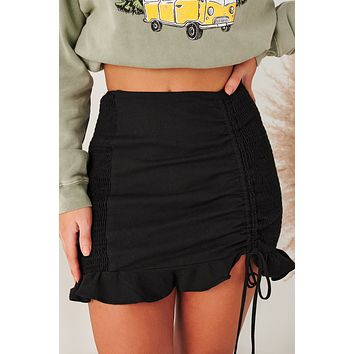 We Have History Smocked Mini Skirt (Black)