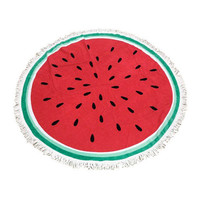 Round Watermelon Tassel Beach Blanket Towel