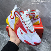 DCCK2 N1175 Nike Zoom Winflo 2000 Mid Fashion Mesh Running Shoes White Red Yellow