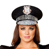 Studded Police Hat - As Shown