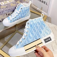 Christian Dior new letter print men's and women's high-top sneakers Shoes #5
