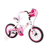 14 Inch Disney Minnie Mouse Bike Bicycle with Training Wheels, Tricycle