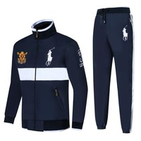 Polo Ralph Lauren new embroidered medal logo men's outdoor sportswear two-piece Blue