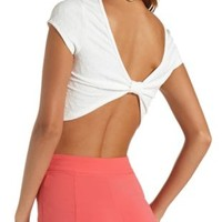Quilted Bow-Back Crop Top by Charlotte Russe