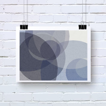 Abstract Generative Art based on Mathematics and Geometry. Mystic Rose 076_9aaaaai. Violet, Blue, Grey art. Office decor. Geeky wall art