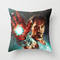 Light 'Em Up Throw Pillow by Alice X. Zhang
