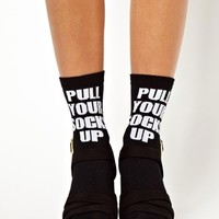 ASOS 2 Slogan Socks at asos.com