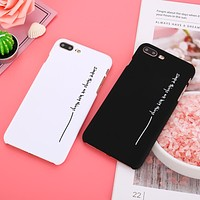 Black White Couples Phone Cases For iphone 7 Case letter Simple Things Are The Best Things case For iphone 7 Plus 6 6S 8 Plus X