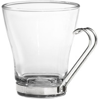 Set of 4 Glass Coffee Espresso Cappuccino Cups with Stainless Steel Handles