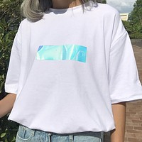 Iridescent Handle With Care Tee