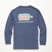 Boys Long-Sleeve Whale in a Bottle Graphic T-Shirt