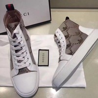Gucci Fashion Trend Of Leisure High Sports Shoes