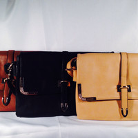 Saddle Crossover Bags (Black or Mocha)