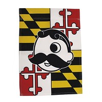 Maryland Flag with Natty Boh Logo *Vertical* / Flag