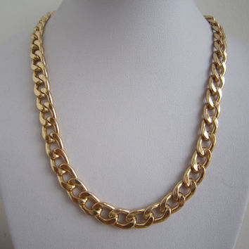 Thick Gold Chunky Chain Necklace, Curb Chain Necklace / Bridesmaids Jewelries, Graduation Birthday Friendship Gift / Trending Accessories