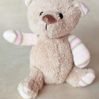 cuddles the bear in pink at ShopRuche.com