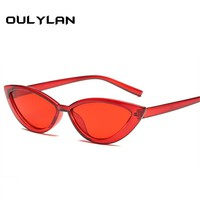 Oulylan Women Cat Eye Sunglasses Luxury Brand Designer Sun Glasses Fashion Retro Glasses Ladies Vintage Eyewear UV400